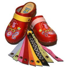 Handpainted swedish clogs