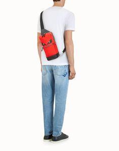 075fee9660e4 Belt bag. FENDI BELT BAG - Red fabric and leather one-shoulder backpack ...