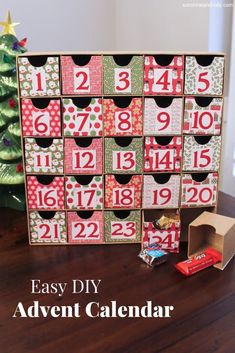 Christmas Activities For Babies Advent Calendar Baby Advent Calendar, Advent Calendars For Kids, Advent Calenders, Diy Calendar, Calendar Design, Diy Christmas Gifts, Holiday Crafts, Christmas Crafts, Christmas Tables