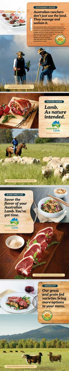 Australian Beef and Lamb (Meat & Livestock Australia) advertising campaign for North American trade audience by Levine DC