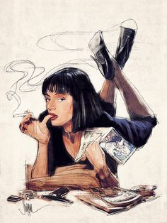 Mia Wallace Art Print from $49 PAUL SHIPPER ILLUSTRATION