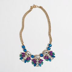 Factory neon crystal fan necklace #jcrew #boldaccessories #statementnecklaces #jewelry