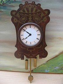 Antique boulle dollhouse clock http://www.dollshopsunited.com/stores/myfavoritedoll/items/1272722/Antique-boulle-dollhouse-clock #dollshopsunited