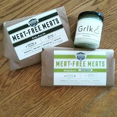 """Got some tasty vegan bites at the @LindenHillsFarmersMarket this a.m. including @theherbivorousb """"meats"""", artisan garlic spread, and a lemon hempseed donut (not pictured) that I wish I would have bought a dozen of.  #vegan #mnpls #shoplocal #supportlocal #foodshare #farmersmarket #minnesota #fall"""
