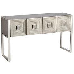 51 1 2 Wide X 15 1 2 Deep X 29 1 2 High Carrington Metallic Painted 4 Door Console Table Contemporary Console Table Console Table Modern Console Tables