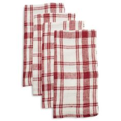 Checkered Linen Napkins, Set of 4 | Sur La Table