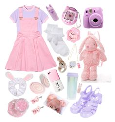 """""""Fairy Kei #28 ✨⭐️"""" by anniebeexoxo on Polyvore featuring John Lewis, Nach, Fujifilm, Topshop and Tony Moly"""