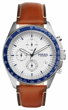 a285f365bc2 Fossil Men s Sport 54 Chronograph Brown Leather Watch     Continue to the  product at the image link.