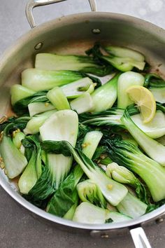 Ginger Soy Bok Choy - easy and healthy sauteed bok choy with 4 ingredients. This recipe takes 10 mins to make and a perfect side dish for weeknight dinner! Healthy Bok Choy Recipes, Vegetable Recipes, Asian Recipes, Healthy Herbs, Chinese Recipes, Vegetable Dishes, Recettes De Bok Choy, Bok Choy Rezepte, Easy Delicious Recipes