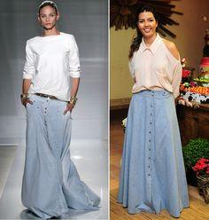 saias longas jeans 1