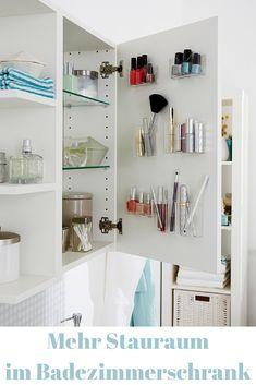 Dein Badezimmerschrank quillt über? Mit diesem Trick schaffst du schnell mehr Platz!  #bad #platzsparen #hack #tricks #tipps #basteln