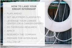 How to land a summer internship. Here are 8 key steps that will get you through the search.