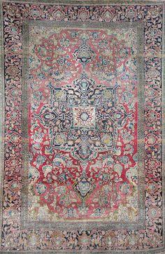Isfahan rug 217x140cm. I Bonhams Jul 2008 The Chester Sale