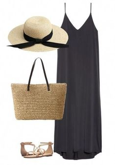 How to Pack Light for Your Spring Getaway + 13 Beach Vacation Outfits, Beach Outfits, Going somewhere? Get there in style with these thirteen vacation outfits for your spring beach getaway. As an added bonus, all of the pieces will fit . Look Fashion, Fashion Outfits, Womens Fashion, Beach Fashion, Teen Fashion, Fashion 2016, Fashion Spring, Trendy Outfits, Beach Outfit For Women