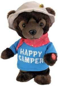 """Chantilly Lane Happy Bear Sings """"Hello Muddah, Hello Fadduh, (A Letter from Camp)"""" 12"""" Plush from Chantilly Lane"""