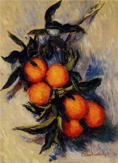 Branch of Orange Bearing Fruit - Claude Monet  1884