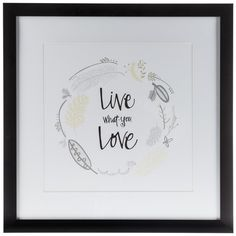 Yellow, White & Gray Live What You Love Framed Art
