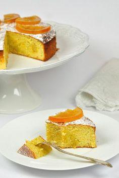 Gâteau très italien, amandes et oranges et citron sans gluten