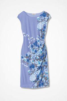 Compliments Cap-Sleeve Dress, Perfect Peri