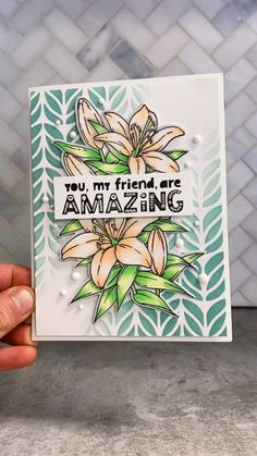 If you're looking for a gorgeous new card making idea, try using stencils for adding detail to your next handmade card. Gayatri Murali of Taylored Expressions shows you how to get this faded ink blend Happy Birthday Cards Handmade, Best Friend Birthday Cards, Creative Birthday Cards, Homemade Birthday Cards, Greeting Cards Handmade, Handmade Cards For Friends, Hand Made Greeting Cards, Bday Cards, Birthday Greeting Cards
