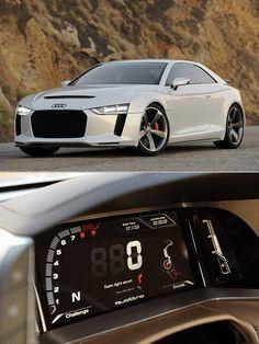 Futuristic Audi Quattro  ♥ App - Audi Warning Lights guide in App Store now http://Carwarninglight.com