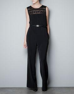 LACE JUMPSUIT - Dresses - Woman - ZARA