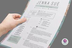 Vintage CV Template, Cover Letter Template , Reference Letter Template (  Vintage Background ) / Floral Resume / Professional Resume   Pinterest    Cover ...