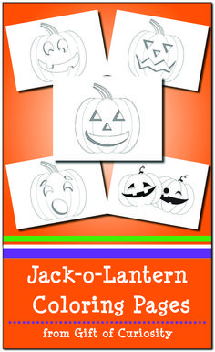 FREE Jack-o-Lantern Coloring Pages for Halloween Free Coloring Sheets, Printable Coloring Pages, Coloring Pages For Kids, Science Activities For Kids, Halloween Activities, Preschool Ideas, Preschool Halloween, Elderly Activities, Fairy Halloween Costumes