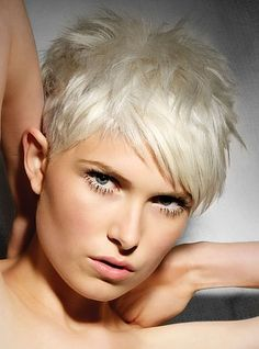 Cute Short Hair Style...love the texture of this cut...the colour definitely isn't for me