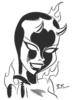Bruce Timm - Devilgirl, in Dave Morris's 2006 San Diego art (work safe) Comic Art Gallery Room - 183724