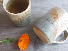 Handmade pottery mug hand thrown ceramic tea coffee by toscAnna