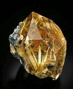 Rutilate Quartz From Novo Horizonte, Bahia, Brazil. #Quartz #Minerals