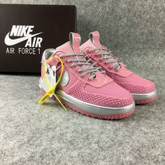 92864cae951f Discount Nike Lunar Force 1 womens Duckboot Low Cheap Shoes Pink Grey On  Sale