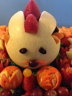 Melon bunny carving by Ernestina