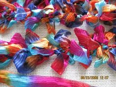 Lei Scarves With Hairpin Lace Loom