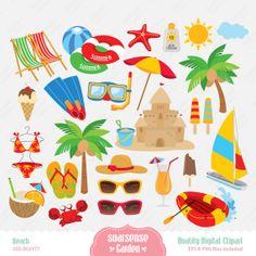Beach Digital Clipart