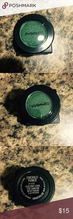 Mac Cosmetics Eyeshadow Emerald Power Electric Cool Eyeshadow! PRICE IS FIRM! BUNDLE IF YOU WISH TO SAVE MORE! MAC Cosmetics Makeup