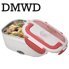 DMWD Mini Lunch box stainless steel liner electric heating insulation lunchboxes hot Food Warmer Container Meal Heater office EU #Affiliate