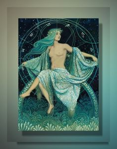 """""""Asteria - Greek Goddess of the Stars"""". Asteria is the Titan goddess of prophetic dreams, astrology and necromancy. She is also the mother of Hecate."""