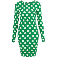 TOPSHOP Polka Dot Bodycon Dress ($58) via Polyvore