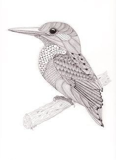 Choose your favorite zentangle drawings from millions of available designs. All zentangle drawings ship within 48 hours and include a money-back guarantee. Zentangle Drawings, Bird Drawings, Zentangle Patterns, Animal Drawings, Zentangles, Kingfisher Tattoo, Kingfisher Bird, Mandala Art, Bird Sketch