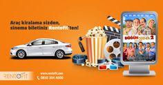 Sinema keyfiniz Rentofit'ten! Günlük 59,90 TL'den başlayan fiyatlar ile araç kiralamanın ayrıcalığını ve konforunu doyasıya yaşamak için www.rentofit.com adresine girerek veya 0850 304 4000 numaralı çağrı merkezimizi arayarak rezervasyon yaptırabilirsiniz. #araçkiralama #rentacar #düğündernek2 #sinema
