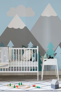 forest inspired baby room