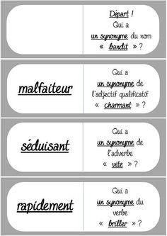 """Les dominos des synonymes (Niveau 3/""""Flocon"""")"""