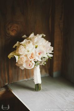 Bridal bouquet  .... I like the idea of mostly white for my bouquet
