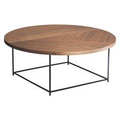 CORALIE Walnut coffee table