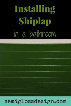 Installing shiplap in a bathroom #shiplap #shiplapbathroom #farmhousebathroom
