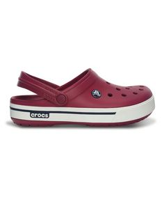 Take a look at this Pomegranate & Navy Crocband II.5 Clog - Men & Women by Crocs on #zulily today!