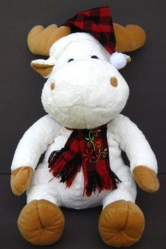 christmas moose stuffed animals