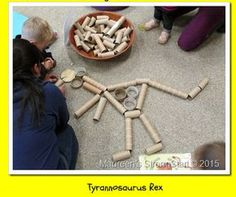 Build a dino skeleton with recycled cardboard tubes!  Great idea!